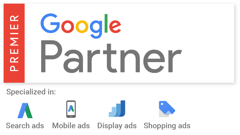 Premier Google Partner für Search, Mobile, Display und Shopping